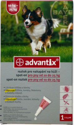 Advantix Spot On pro psy 10-25kg (2,5ml)