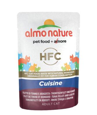 Almo Nature HFC Cuisine WET CAT - Filet z tuňáka a humr 55g