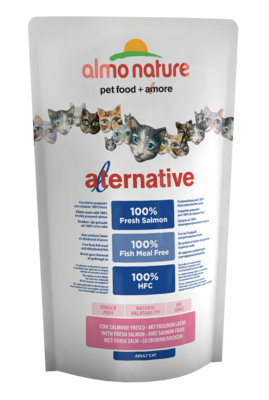 Almo Nature Alternative Dry CAT - Losos a rýže 750g