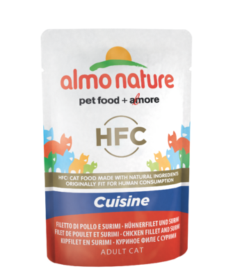 Almo Nature HFC Cuisine WET CAT - Kuřecí filet a surimi 55g