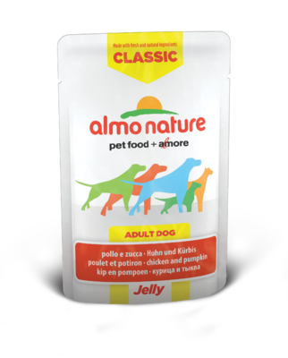 Almo Nature HFC Jelly WET DOG - Kuře a dýně v želé 70g