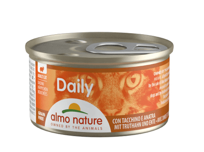Almo Nature Daily Menu WET CAT - Kousky s krůtou a kachnou 85g