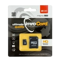 Micro SD karta 2GB s adaptérem