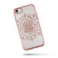 Obal / kryt na Apple iPhone 5 / 5S / SE starorůžový - Mandala