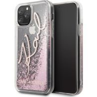 Obal / kryt na iPhone 11 Karl Lagerfeld Glitter Peek and Boo Rose
