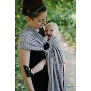 RING SLING LITTLE FROG - LOVELY SLATE - M - LITTLE FROG /BELOVED SLINGS RING SLING{% if kategorie.adresa_nazvy[0] != zbozi.kategorie.nazev %} - ŠÁTKY{% endif %}