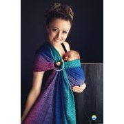 LITTLE FROG RING SLING - DARK AURORA CUBE - M - LITTLE FROG /BELOVED SLINGS RING SLING{% if kategorie.adresa_nazvy[0] != zbozi.kategorie.nazev %} - ŠÁTKY{% endif %}