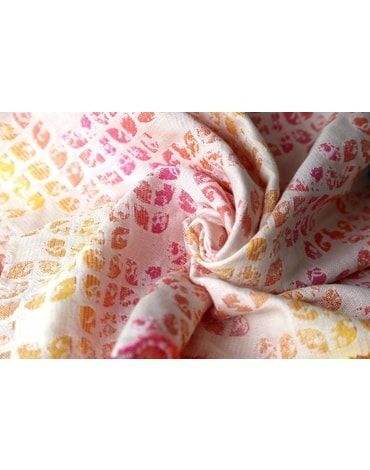 Yaro Petals Ultra Cotton Candy Rainbow Wrap tencel, linen, kapok