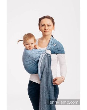 Lenny Lamb Ringsling - BIG LOVE - OMBRE LIGHT BLUE - standard 1.8m