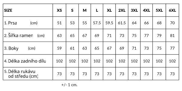 velikostní tabulka lennylamb asymetrická mikina