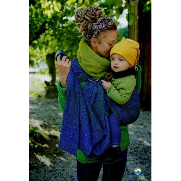 LITTLE FROG RING SLING - LOVELY DARKNESS - M - LITTLE FROG /BELOVED SLINGS RING SLING{% if zbozi.kategorie.adresa_nazvy[0] != zbozi.kategorie.nazev %} - ŠÁTKY{% endif %}