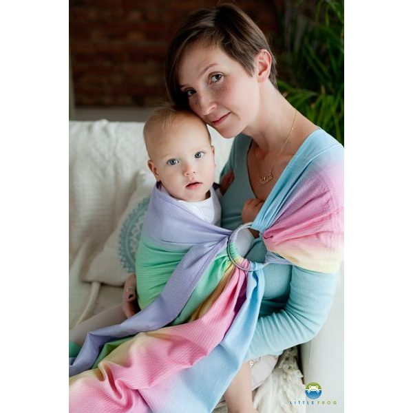 LITTLE FROG RING SLING - BAMBOO TOURMALINE - S - LITTLE FROG /BELOVED SLINGS RING SLING{% if zbozi.kategorie.adresa_nazvy[0] != zbozi.kategorie.nazev %} - ŠÁTKY{% endif %}