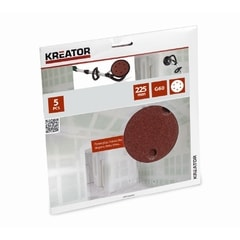 Kreator KRT232004 5ks Brusný kotouč 225 mm G60