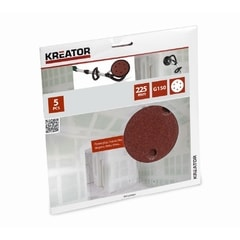 Kreator KRT232007 5ks Brusný kotouč 225 mm G150