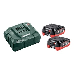 Metabo Basic-Set 12V 2xLiHD 4,0 Ah