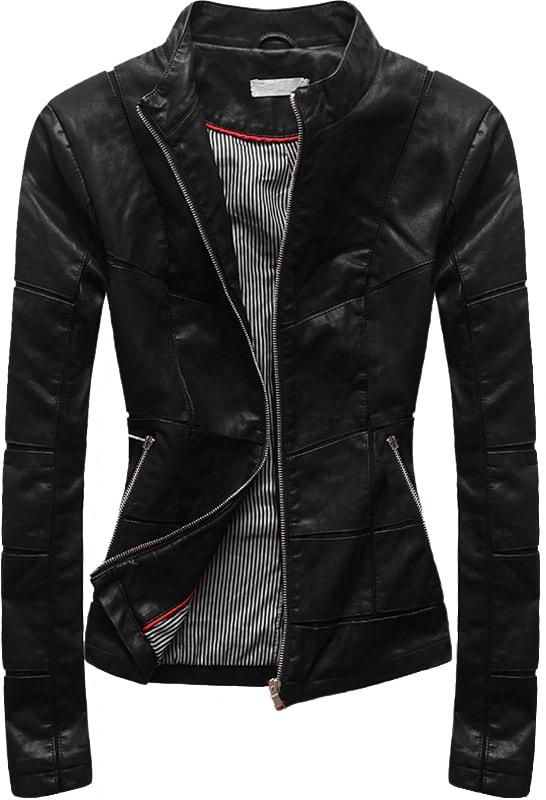 Modovo Damen Kunstlederjacke Td101 Schwarz Modovo Jacken