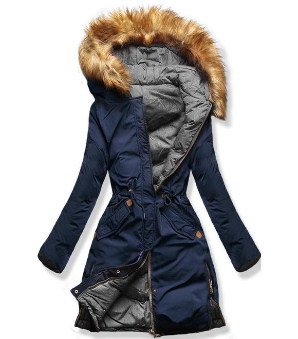 online store 510a1 19a54 MODOVO - Damen Winterjacke mit Kapuze A5 Blau-Grau - MODOVO ...