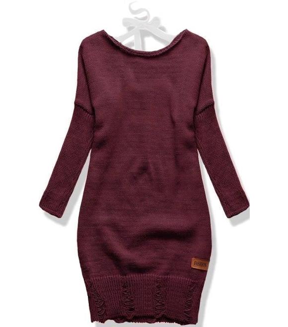 brand new 13192 9bed0 Langer Damen Pullover SWF01W Weinrot