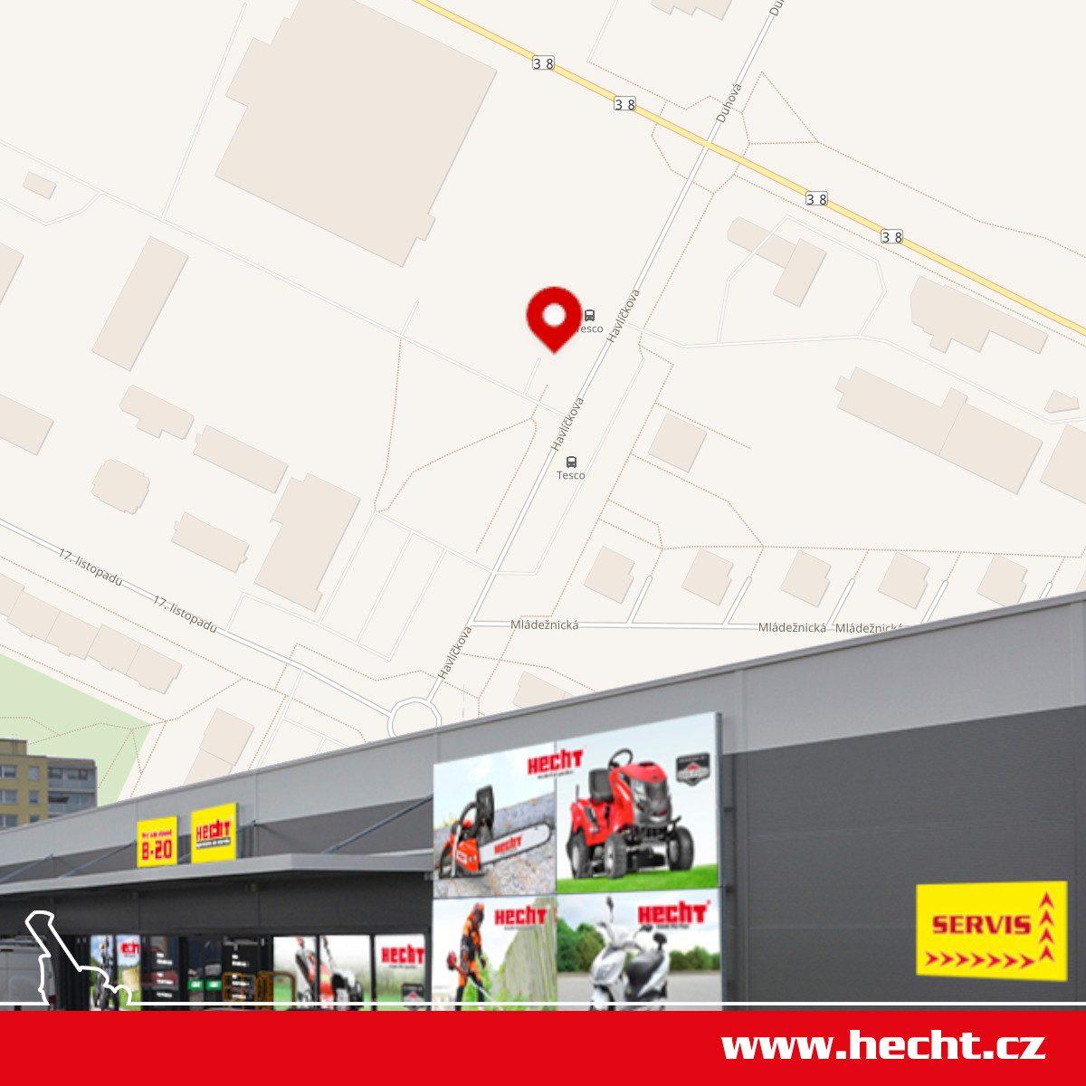 Prodejna HECHT v Mladé Boleslavi