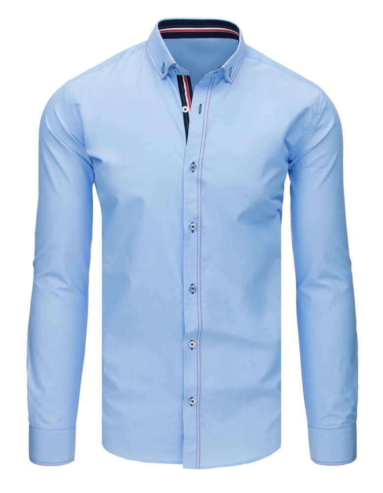Camasa albastra, eleganta, culoare albastru deschis
