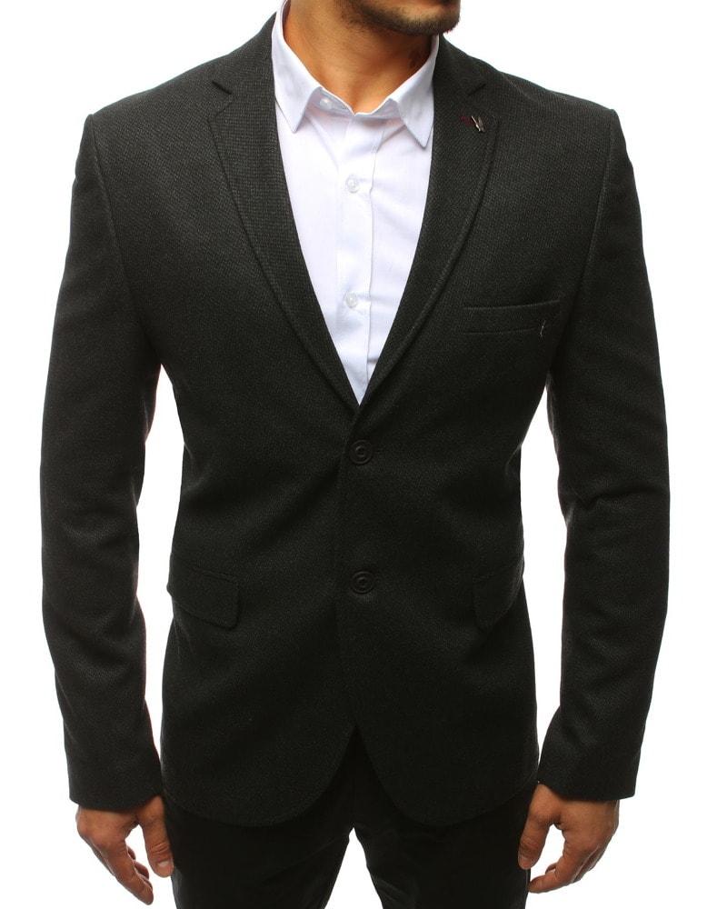 Sacou deosebit negru cu design stilat