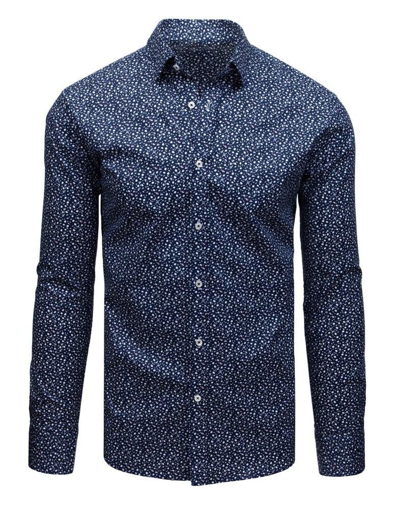Camasa trendy eleganta, culoare bleumarin