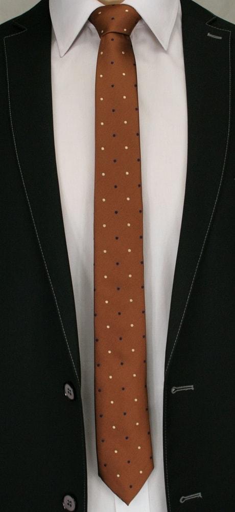 Cravata maro cu model- buline