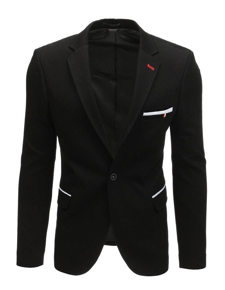 Sacou negru cu design interesant