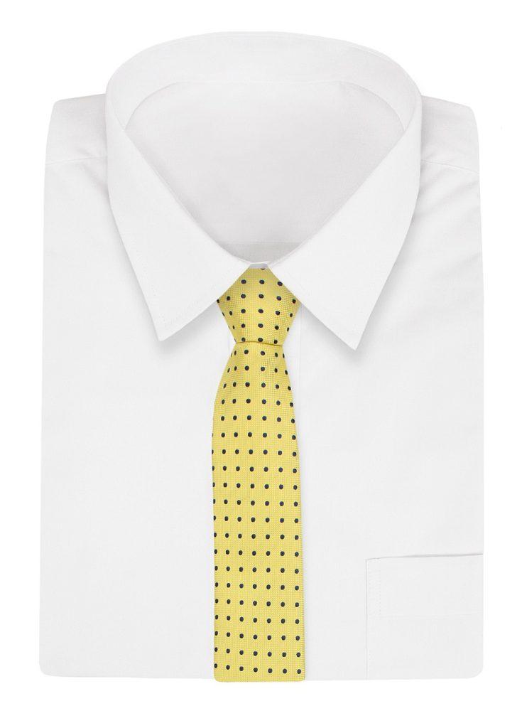 Cravata cu model GALBEN