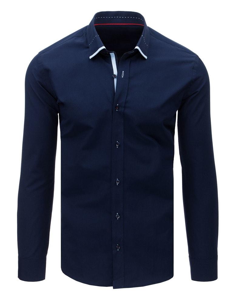 Camasa originala, culoare bleumarin