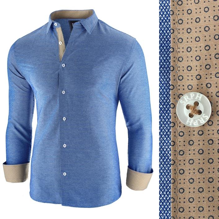 Camasa  Business Class EXTRA albastru inchis