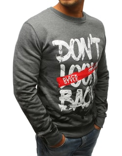 Bluza gri Don´t look back