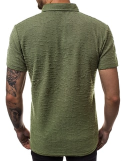 Tricou polo interesant verde deschis  O/1246