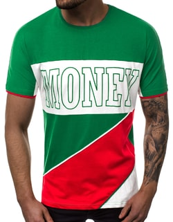 MONEY tricou verde OZONEE B/40110