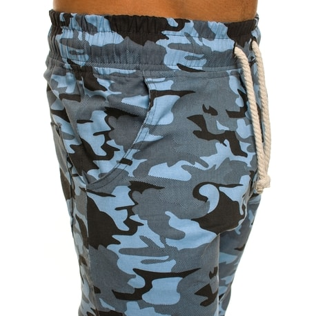 Pantaloni jogger albastri cu model militar Athletic 367