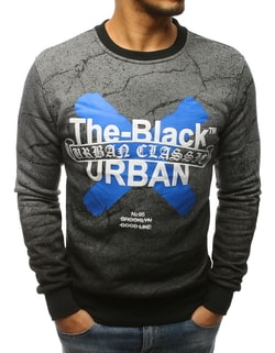 Antracit pulover THE BLACK URBAN