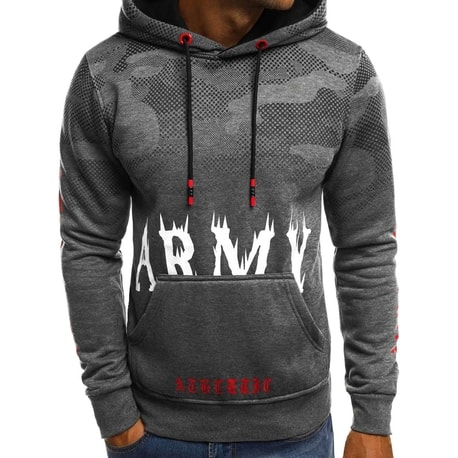 ARMY grafit pulover s kapuco JS/DD211