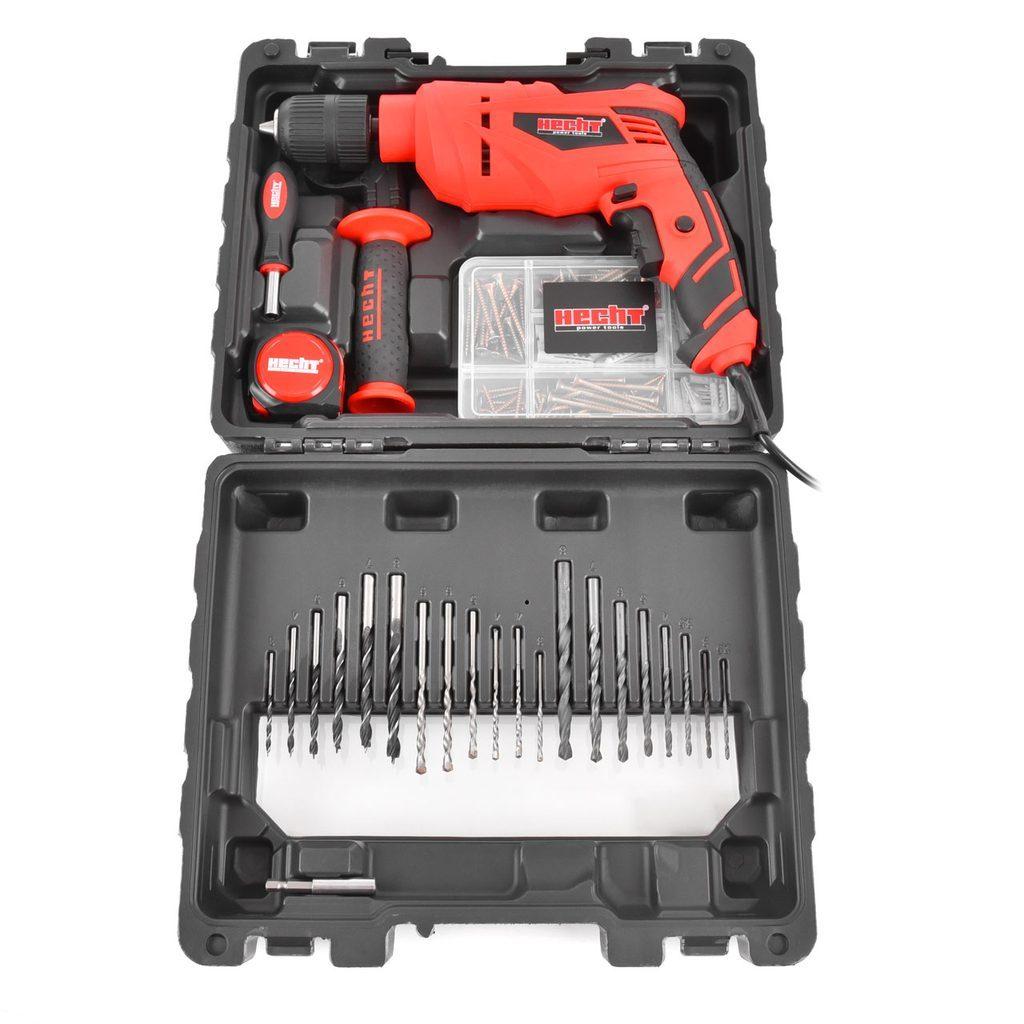 Elektrická vŕtačka s príklepom set - HECHT 107 SET