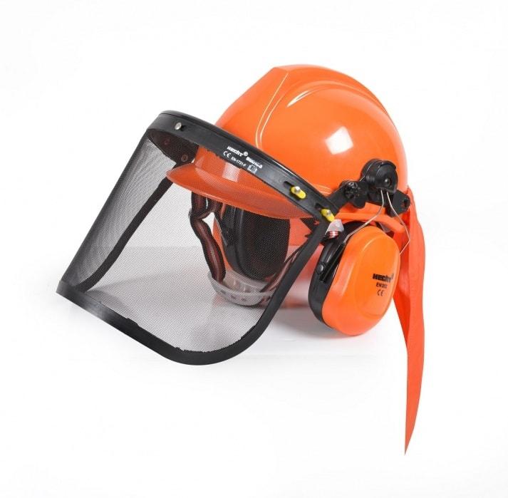 HECHT 900100 - ochranná helma so slúchadlami a štítom CE