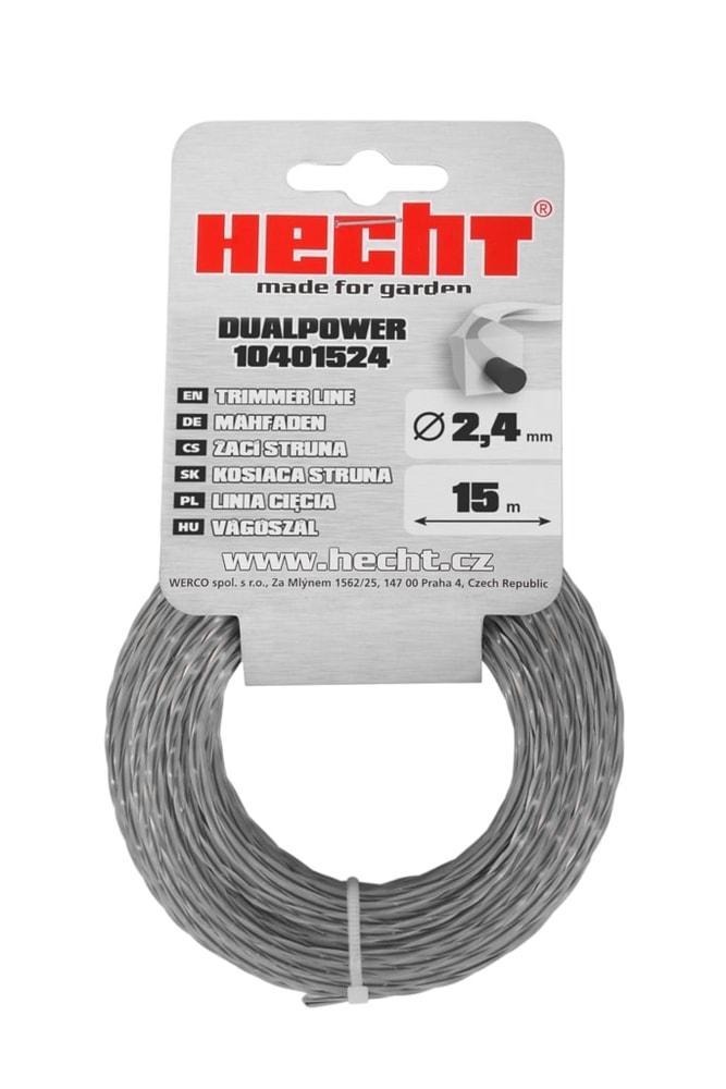HECHT 10401524 - struna s jadrom štvorcová 2,4 mm x 15 m