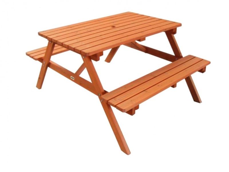 HECHT PICNIC SET - Kompaktná lavica so stolom
