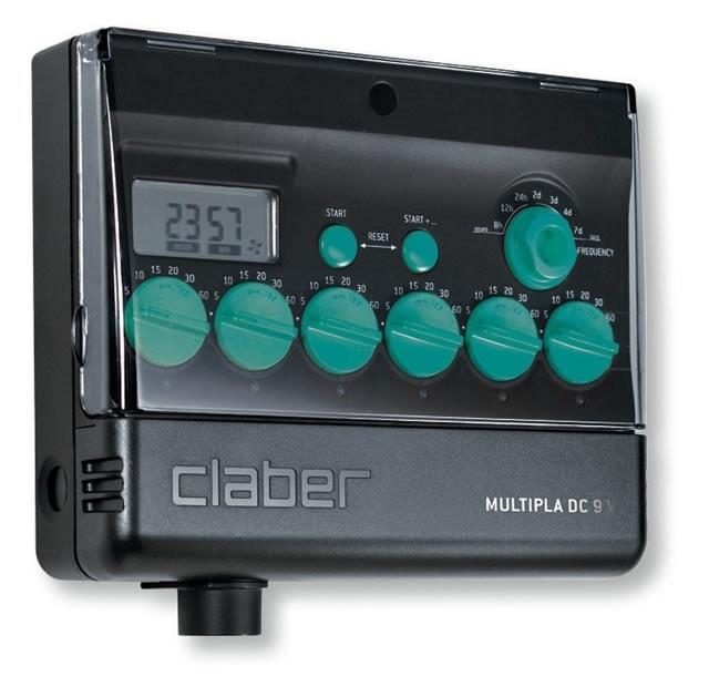 Claber 8060 - Multipla, 6 zónová riadiaca jednotka 9V, LCD