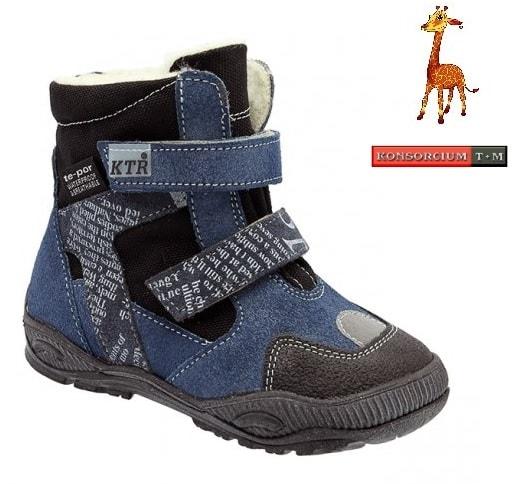 d3aa782da19f Zimní obuv KTR s membránou 315 1 T granát modrá - KTR KONSORCIUM - Zimná  obuv - Detská obuv - MódaDětí.cz