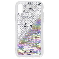 Hama Sequins Cover for Apple iPhone X/Xs, mother of pearl / silver