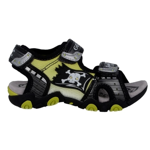 GEOX JR SANDAL STRIKE GREY/LIME