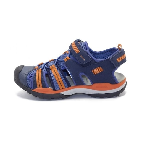 SANDÁLY GEOX J BOREALIS BOY NAVY/ORANGE