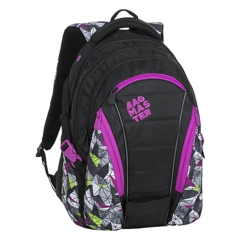 BAGMASTER BAG 9 B PURPLE/GREEN/BLACK