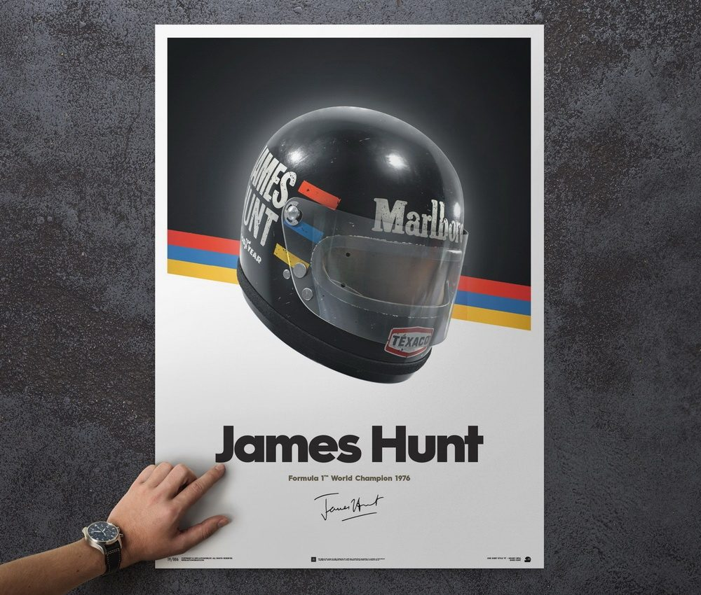 James Hunt Helmet - 1976 Japan