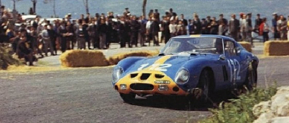 Ferrari 250 GTO - Blue - Targa Florio - 1964 - Colors of Speed Poster