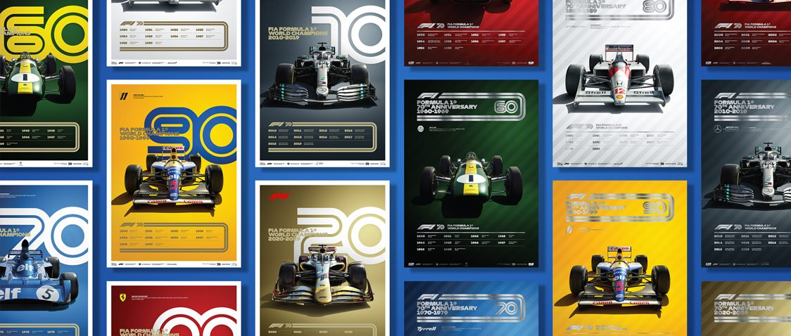 FORMULA 1® DECADES - 8 POSTERS, ONE GLORIOUS HISTORY |  COLLECTOR'S EDITION